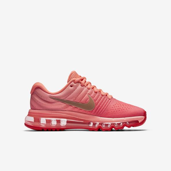 6ea778818fbbd7861edbb2d0a6a1ee3d - NIKE AIR MAX 2018(GS) 851623-800 女款 編織 全氣墊慢跑鞋 粉紅配色