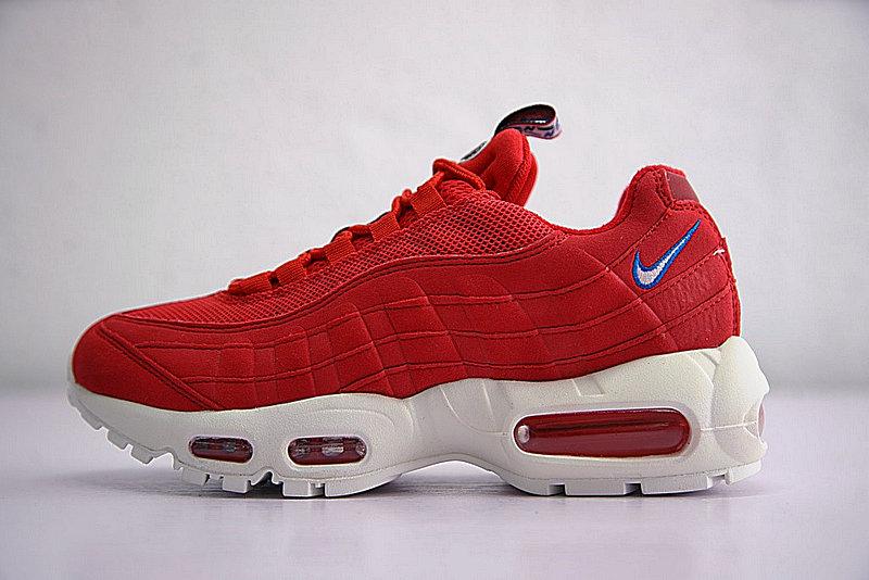 9241262382ebbd3aa9dc9979ee9a5b82 - Nike Air Max 95 TT 復古氣墊百搭慢跑鞋系列 串標紅白藍 AJ1844-600