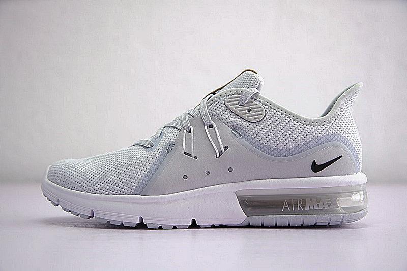 968c05d28ec5844f3817023721d354ad - 男鞋 Nike Air Max Sequent 3代後掌緩震超軟氣墊慢跑鞋 白水灰棕 921694-008