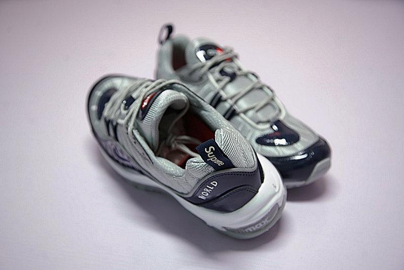 a507ee7d013a9d9a4f791b52fb9dffda - Supreme x NikeLab Air Max 98 復古氣墊百搭慢跑鞋 海軍藍灰 844694-400 男鞋