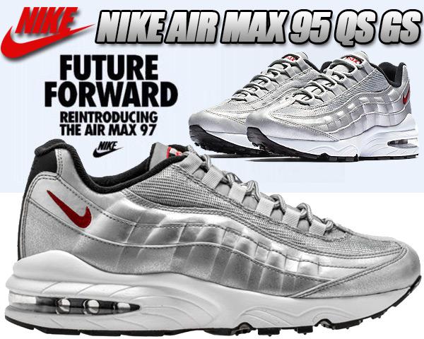 be1763d8533a7a3db5ea99e600915f23 - NIKE AIR MAX 95 QS GS 氣墊 金屬銀 情侶鞋 918630-001