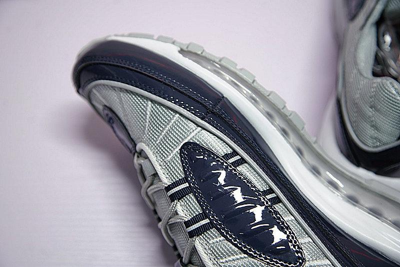 cab7d22345795188758cfd625537833c - Supreme x NikeLab Air Max 98 復古氣墊百搭慢跑鞋 海軍藍灰 844694-400 男鞋