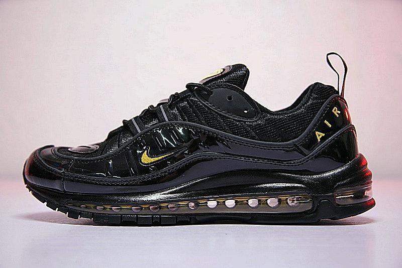 dacb00134c3ed338f07938fd87477315 - 男鞋 Nike Air Max 98 復古 氣墊 百搭 慢跑鞋 黑黃 640744-080
