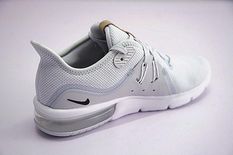 e487ee043ea6a1841be5f3ff8fde6247 - 男鞋 Nike Air Max Sequent 3代後掌緩震超軟氣墊慢跑鞋 白水灰棕 921694-008