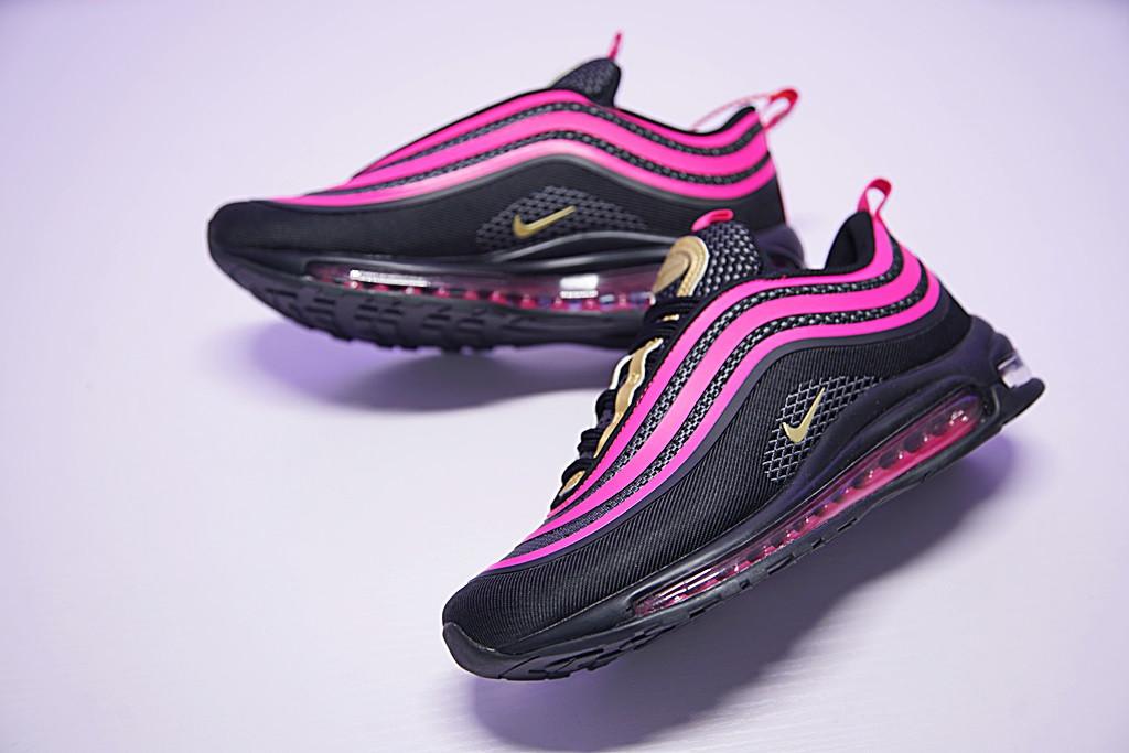ed41ac2cb1b7c736f05ff9f3d3bbe2d7 - Nike Air Max 97 UL  氣墊 百搭 全黑粉紅 927508-002