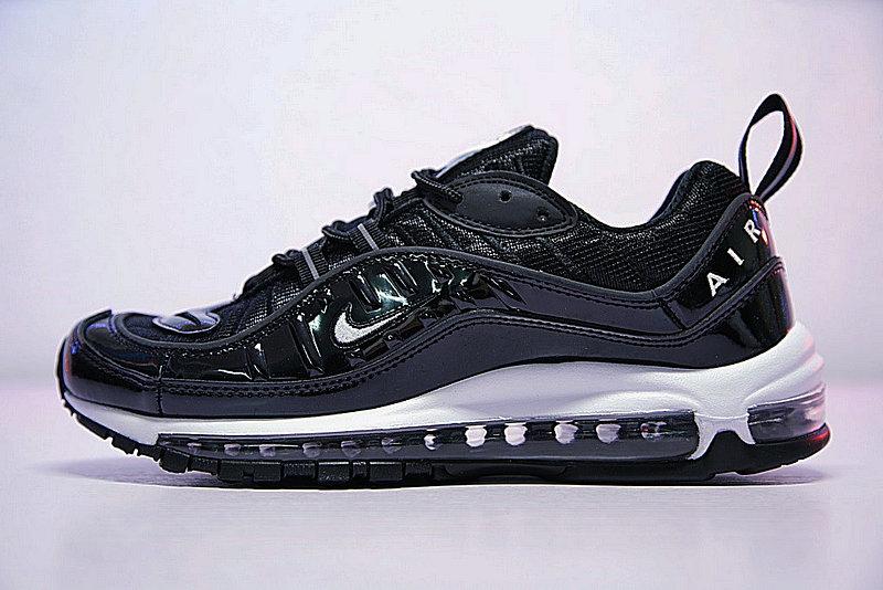 ef17d2071e53bad9ee58006a8087051e - 男女鞋 Nike Air Max 98 復古氣墊百搭慢跑鞋 黑白 640744-010
