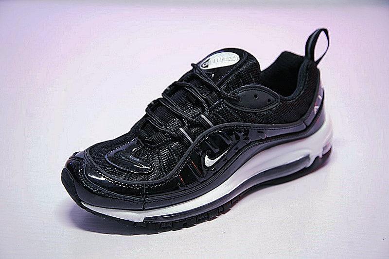 f953211b3baa6442569f28bf00baa6e2 - 男女鞋 Nike Air Max 98 復古氣墊百搭慢跑鞋 黑白 640744-010