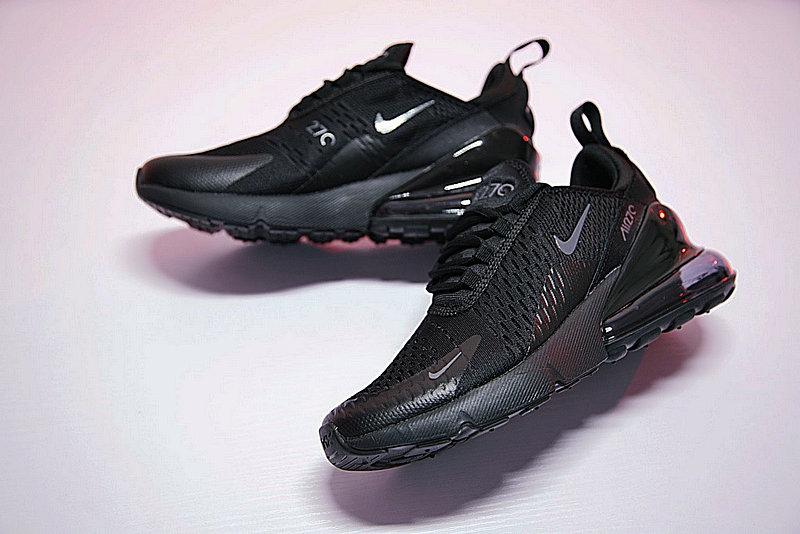 f9ed7fa21c9b8b604d93f8bddbfa1937 - 男女鞋 Nike Air Max 270系列後跟半掌氣墊慢跑鞋 Triple Black 全黑 AH8050-001