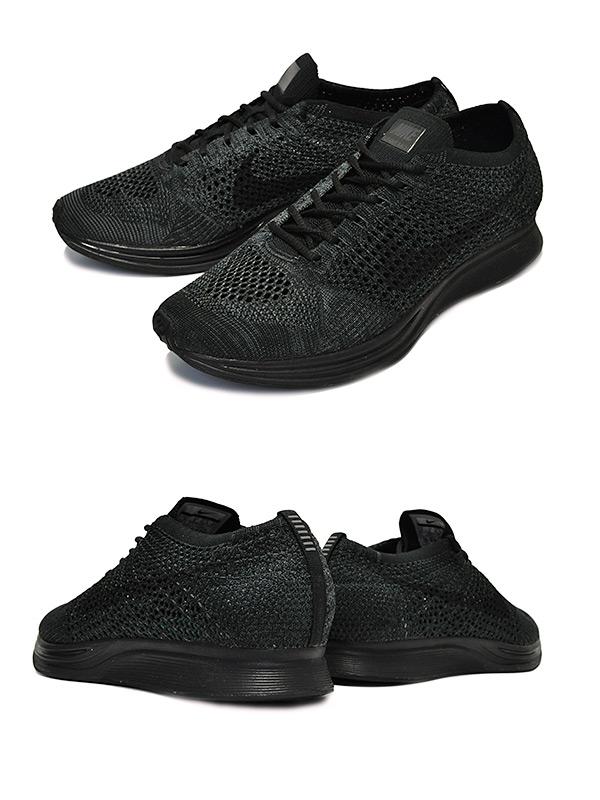 2d1ef56beeab5559960ab9b6510f83d9 - Nike Flyknit Racer 全黑 黑武士 情侶 飛線 針織  526628-009