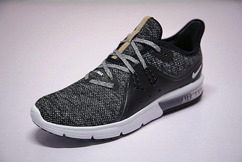a0c988e58570215fd49162044c03f2c5 - 男女鞋 Nike Air Max Sequent 3代 緩震 超軟 氣墊 慢跑鞋 奧利奧黑灰 921694-011