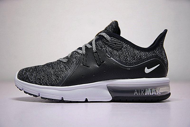 b57bf27ae2e57b5a82edd5ba7698347c - 男女鞋 Nike Air Max Sequent 3代 緩震 超軟 氣墊 慢跑鞋 奧利奧黑灰 921694-011