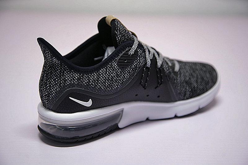 d1b1cf6aa94d86db2deb6de3740ccb6a - 男女鞋 Nike Air Max Sequent 3代 緩震 超軟 氣墊 慢跑鞋 奧利奧黑灰 921694-011