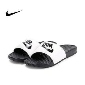 1 恢复的 300x300 - Nike Benassi JDI 343880-100 權志龍 基本款 GD 黑 白 拖鞋 情侶款
