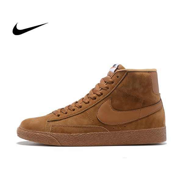 NIKE BLAZER LOW PRM VNTG  復古 棕色 麂皮 防滑 男鞋