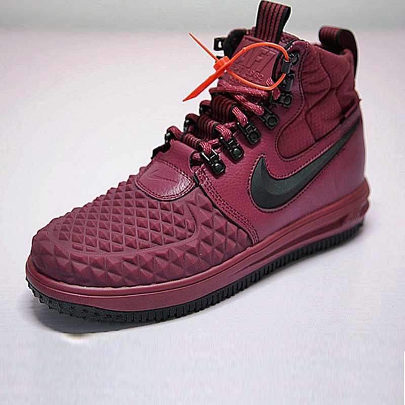 Nike Lunar Force 1 Duckboot 機能 防水 高筒靴 酒紅 916682-003