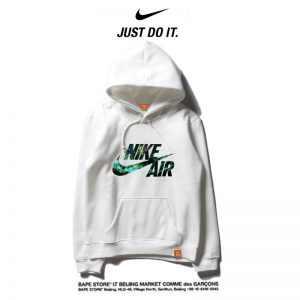04f3509ea87a08a7 300x300 - Nike 2018春秋薄款 衛衣 寬鬆 長袖 套頭 情侶款 白色 碎花字勾