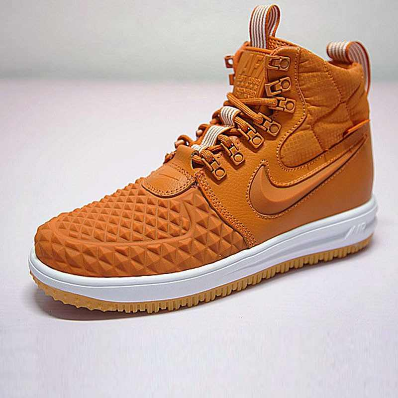 Nike Lunar Force 1 Duckboot 機能 防水 高筒靴 橘黃白 922807-702