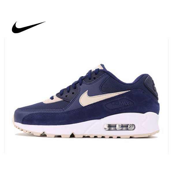 Nike Wmns Air Max 90 寶藍白 麂皮 網布 復古慢跑鞋 休閒 情侶鞋 325213-410