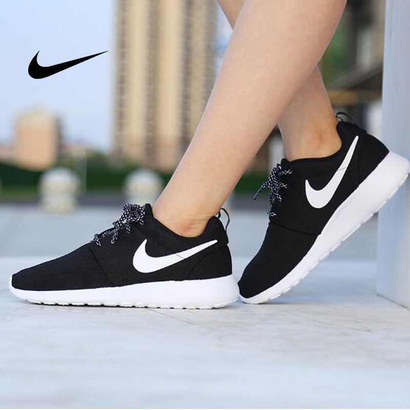 NIKE ROSHE ONE 844994 黑白 細網 情侶鞋