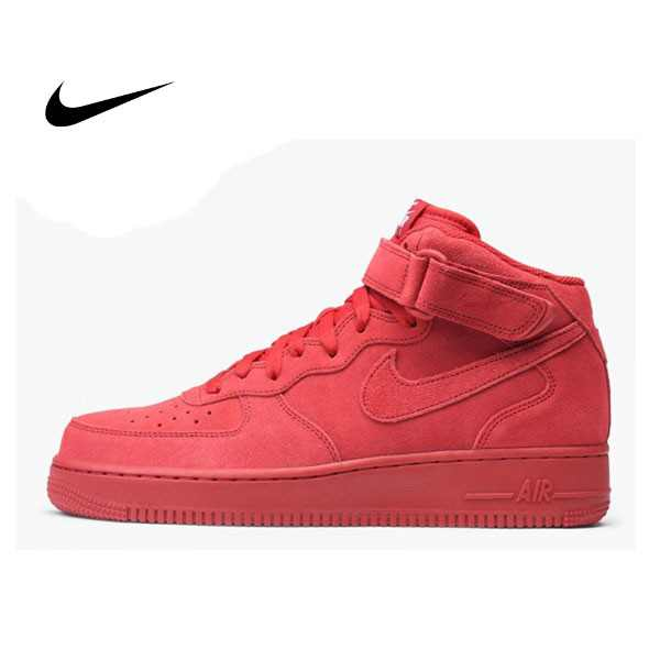 NIKE AIR FORCE 1 MID 07 AF1 高筒 全紅 315123-609 男款