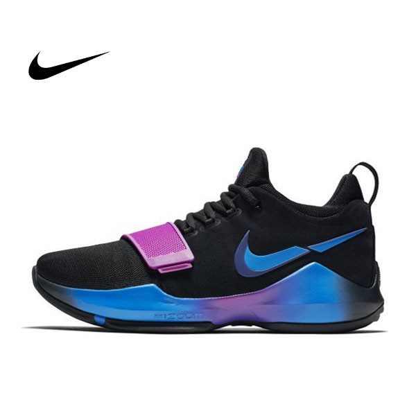 NIKE PG 1 黑紫藍 低幫 籃球 魔術粘 男 878628-003 - 耐吉官方網