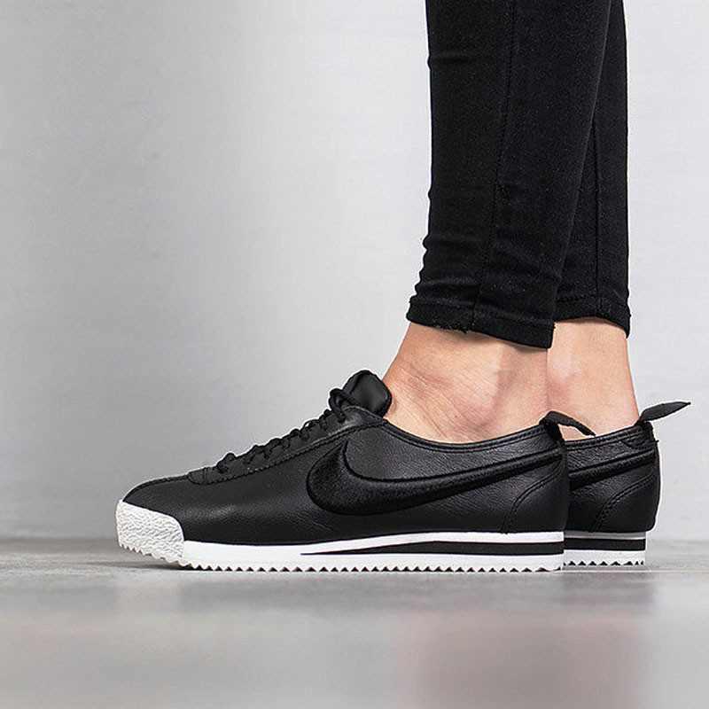 Nike Cortez 阿甘 復古 百搭 慢跑鞋 黑白 皮 881205-001 情侶鞋