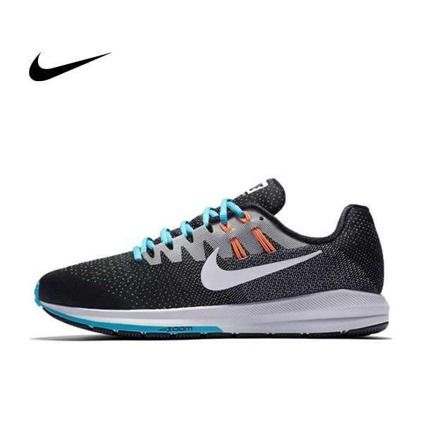 NIKE AIR ZOOM PEGASUS 20 飛線 針織 穩定 跑步鞋 男(黑白藍)849576-018