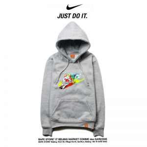 10faf379a4f93ac8 300x300 - Nike 薄款 衛衣 寬鬆 長袖 套頭 情侶款 灰色 彩色字勾