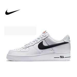 1abba25e3a80f338 300x300 - Nike Air Force 1 Low Casual 488298-158 荔枝皮 白底 黑勾 男款