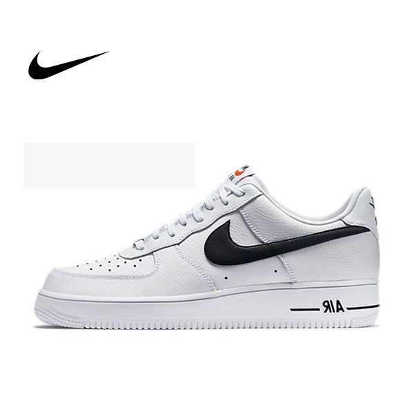 Nike Air Force 1 Low Casual 488298-158 荔枝皮 白底 黑勾 男款