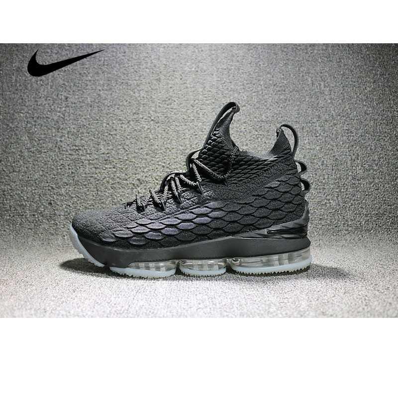 Nike LeBron 15 LBJ15 詹姆斯15代男子籃球鞋 灰 897648-001