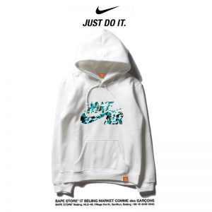 2169786b9157f3ae 300x300 - Nike 薄款 衛衣 休閒 長袖 套頭 情侶款 白色 碎花logo