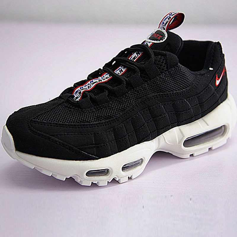 男女鞋 Nike Air Max 95 TT 復古氣墊百搭慢跑鞋系列 串標黑白紅 AJ1844-102