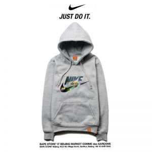 2cfb5f15e9a6e948 300x300 - Nike 薄款 衛衣 寬鬆 長袖 套頭 情侶款 灰色 閃電字勾