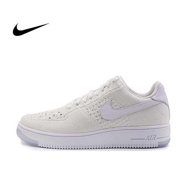 NIKE AIR FORCE 1 ULTRA FLYKNIT 編織籃球鞋(全白)817419-100 情侶款