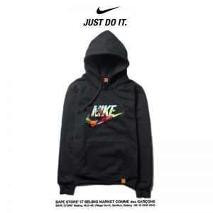 3143a7e9c8c47496 300x300 - Nike 薄款 衛衣 寬鬆 長袖 套頭 情侶款 黑色 經典字勾