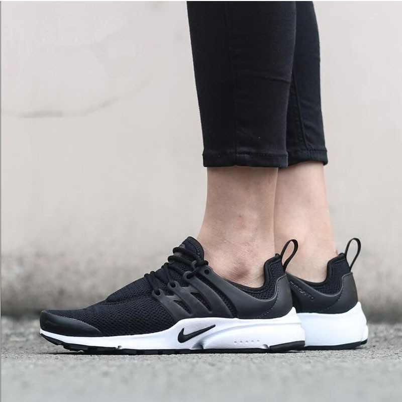Nike Air Presto 黑白 潮流襪子鞋 女子休閑運動跑步鞋878068-001