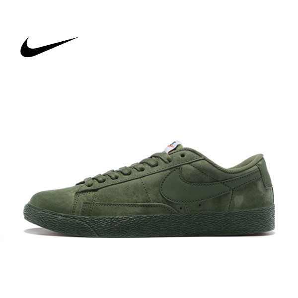 NIKE BLAZER LOW 麂皮 防滑 軍綠 情侶鞋 443603-601
