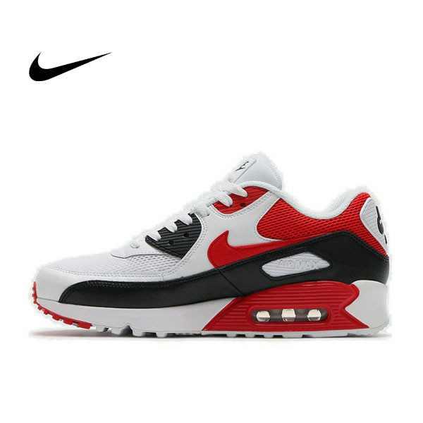 NIKE  AIR MAX 90 氣墊 白黑紅 男鞋 537384-129