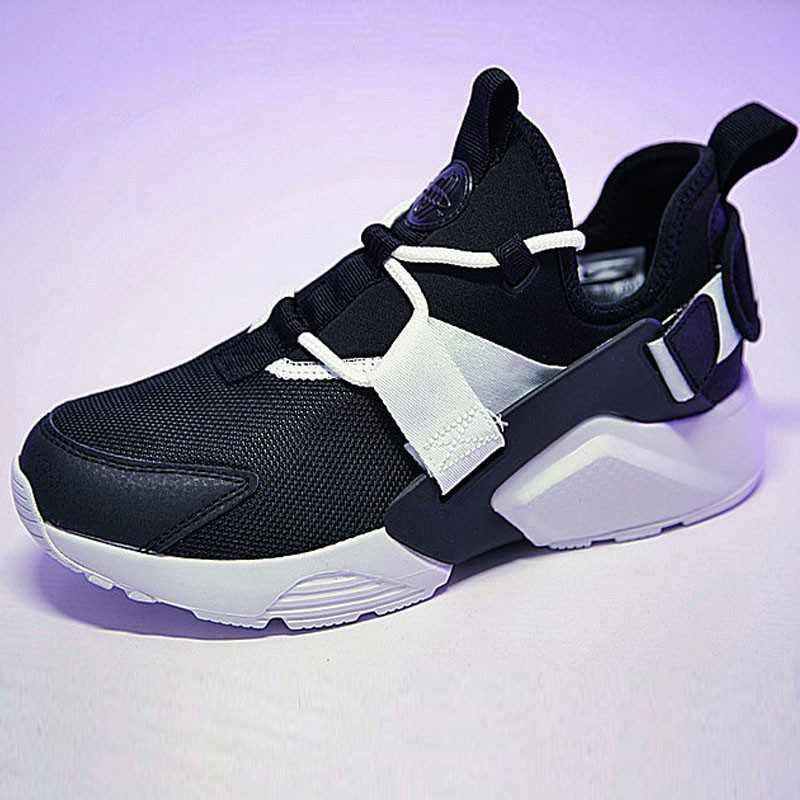 情侶鞋 Nike Air Huarache City Low 機能 百搭 慢跑鞋 黑白 AH6804-002