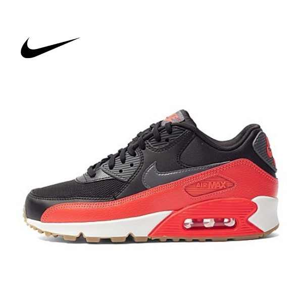 NIKE WMNS AIR MAX 90 ESSENTIAL 皮革慢跑鞋(黑紅) 616730-025 女