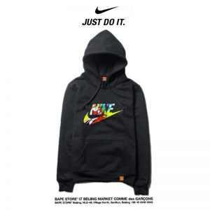 3c92253a5d8f0ff3 300x300 - Nike 薄款 衛衣 寬鬆 長袖 套頭 衛衣 情侶款 黑色