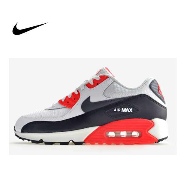 NIKE AIR MAX 90 ESSENTIAL 皮革 網布 慢跑鞋 男 537384-126