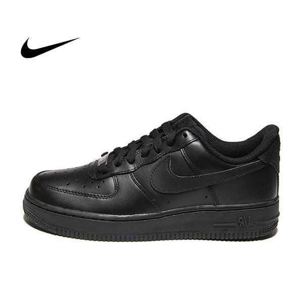 NIKE AIR FORCE 1 '07 全黑 皮革 復古 籃球鞋 情侶鞋 315115-038