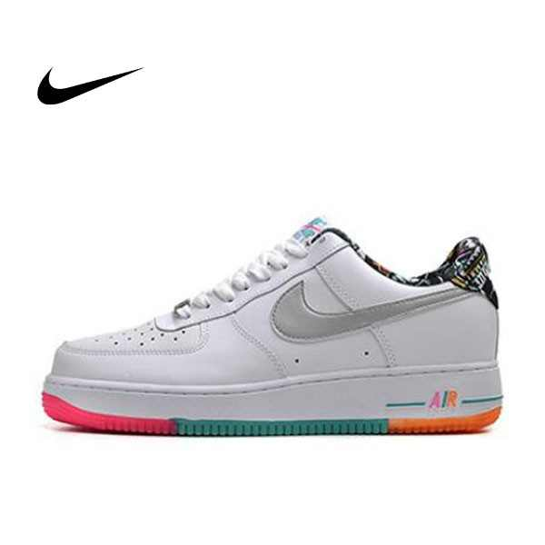 NIKE AIR FORCE 1 '07 PRM 彩虹 塗鴉 情侶鞋 596728-100