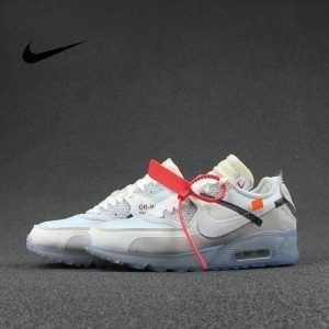 "435447418f67de78 300x300 - Virgil Abloh設計師獨立品牌OFF white x Nike Air Max 90 氣墊慢跑鞋""OFF-WHITE 白灰冰藍底""AA7293-100"