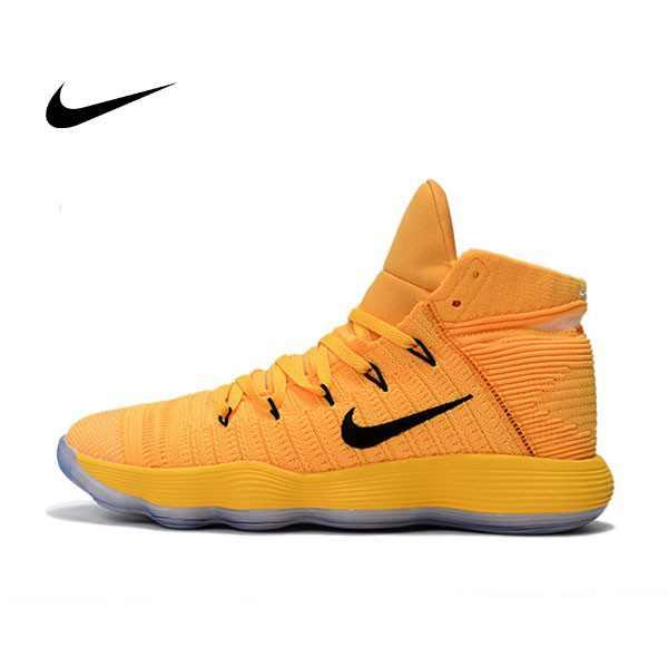 Nike React Hyperdunk Flyknit 黃黑 籃球鞋 男款