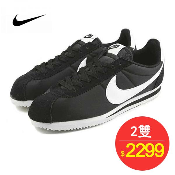 Nike Cortez Basic Nylon 經典 阿甘 黑白 情侶鞋 819720-011