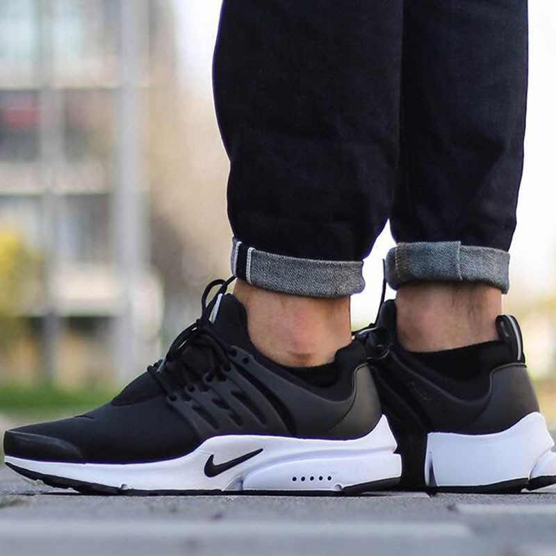 NIKE AIR PRESTO ESSENTIAL 黑白 棉布 百搭 跑步男鞋 848187-009