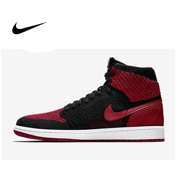 Air Jordan 1 Flyknit  Banned 編織 黑紅 高筒 籃球鞋 男 919704-001